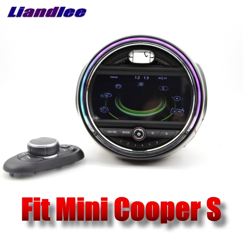 Liandlee Car Multimedia Player For Mini Cooper S 2014~2018 Original Car style With iDrive Button Car Radio Stereo GPS Navigation