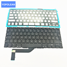 5pcs/lot Replacement Keyboard For Apple macbook pro 15.4'' A1398 Norway Norwegian keyboard with backlight backlit 2012-2015(China)