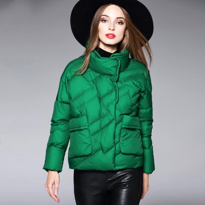 Yp146 Nouvelles Doudoune Court Femmes green D'hiver Survêtement Décontracté Épais De Outwear 2019 Pain caramel Black Mode Simple Mince Dames ZqdRZw