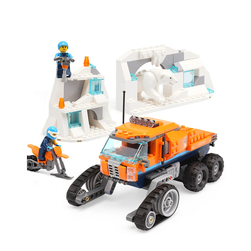 2018 New City Arctic Scout Truck Set Compatible Legoingly 60194 Citys Building Blocks Bricks Kids Toys Birthday Gifts Car Model