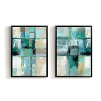 2 Panel Set Hand Painted Oil Painting Handmade Abstract Paintings 50x70cmx2 Panel Without Framed
