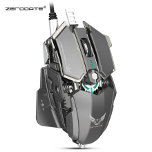 ZERODATE LD MS500 Adjustable 4000DPI RGB Breathing Light Gaming Mouse Professional Mechanical Gaming Mouse Ergonomic Game Mice