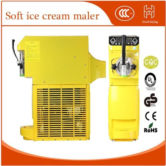 Commercial Mini Ice Cream Maker 18L/h Soft Ice Cream Machine Make Sundae Ice Cream 110~220V/500W 0.4HP Compressor 1pc15kgs 24h 220v small commercial automatic ice maker household ice cube make machine for home use bar coffee shop