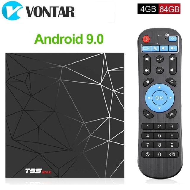 TV Box T95 Max, Android 9,0, 4GB, 32GB, 4GB, 64GB, Allwinner H6, 2,4 GHz, Wifi, compatible con reproductor de Google, Youtube, dispositivo de TV inteligente, PK X96mini, TX6