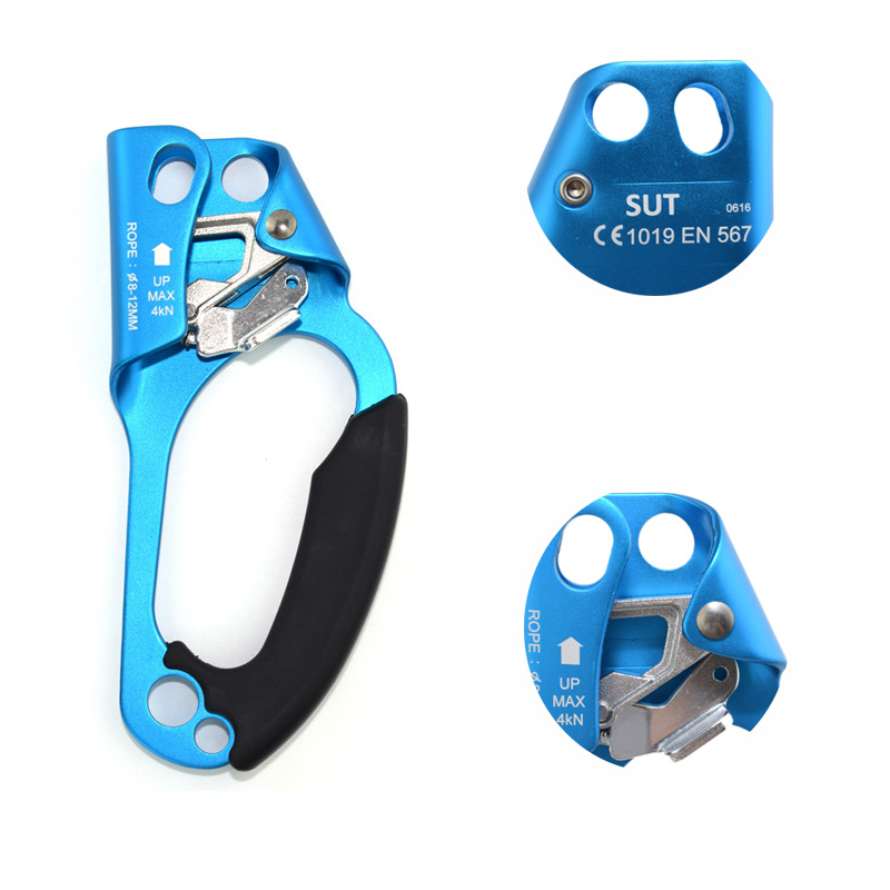 Mounchain Outdoor Rock Climbing Equipment Professional Belay Device Right Hand Rope Ascender Survival Device Climbing Ascenders e0037 right hand ascender professional aerospace aluminum ascenders for outdoor mountaineering rock climbing