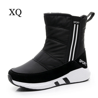 Women Snow Boots 2017 New Arrivals Thick Plush Winter Shoes Mid Calf Boots High Quality Waterproof