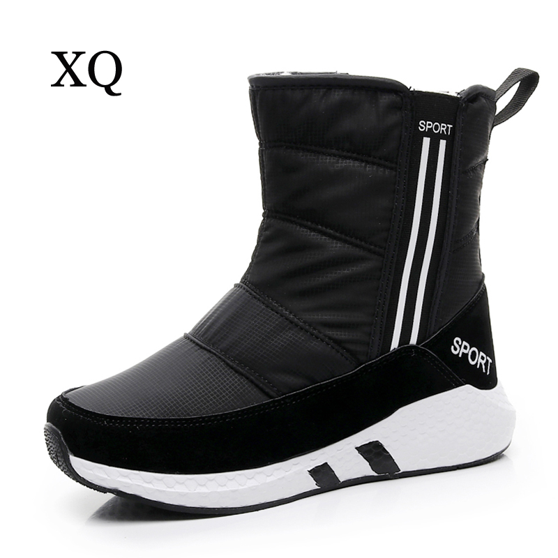 Women snow boots 2017 new arrivals thick plush winter shoes mid-calf boots high quality waterproof women boots black new fashion superstar brand winter shoes embroidery snow boots tassel women mid calf boots thick heel causal motorcycles boots