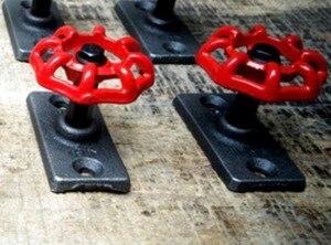 Image 2 - 4ピース/セット7 × 5 × 5センチ工業レトロ蒸気弁フック