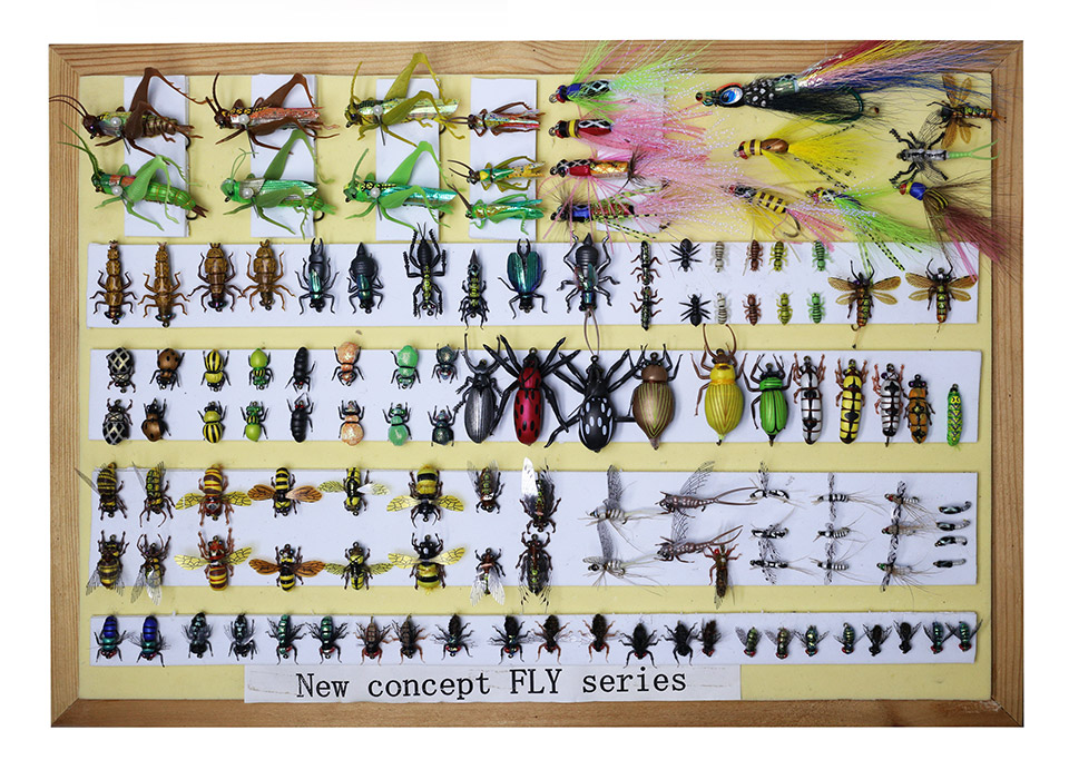 Yazhida Global Fly Fishing Fans Flies Collection Plan redfish seatrout fly assortment collection of 6 holly flies