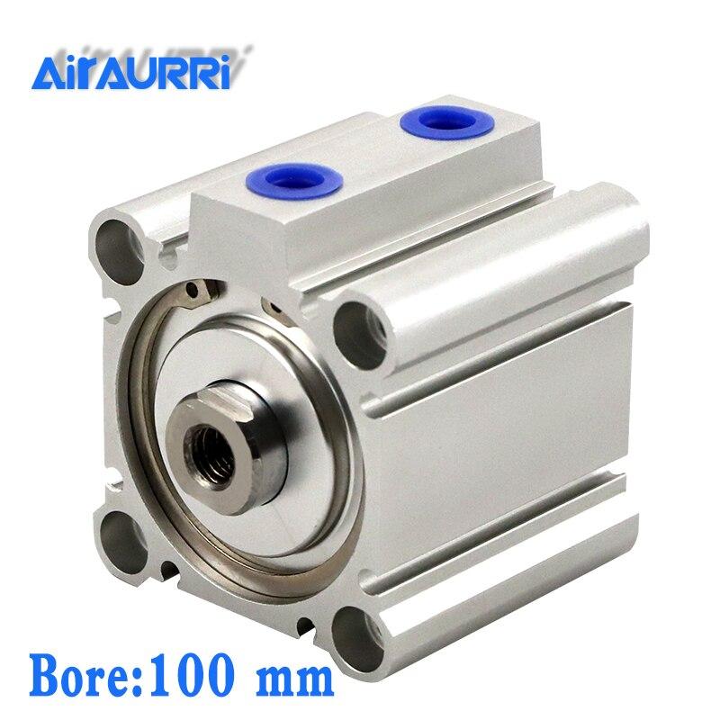 Smc type cylindre pneumatique CQ2B/CDQ2B alésage 100mm course 5/10/15/20/25/30/35mm vérin à piston magnétique à Double effet