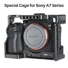 UURig Metall Vlog Kamera Käfig Halterung für Sony A7III A7R3 A7M3 Fall Mit Mikrofon Kalten Schuh Montieren Top Griff Hand grip Rig Käfig