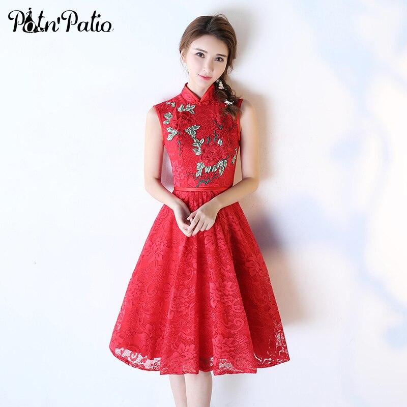 Китай платье красное