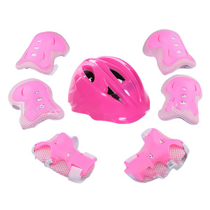 Image 2 - 7Pcs Gift Practical Kid Adjustable Knee Wrist Guard Elbow Pad Bicycle Sports Helmet Cycling Roller Child Skating Protective Gear