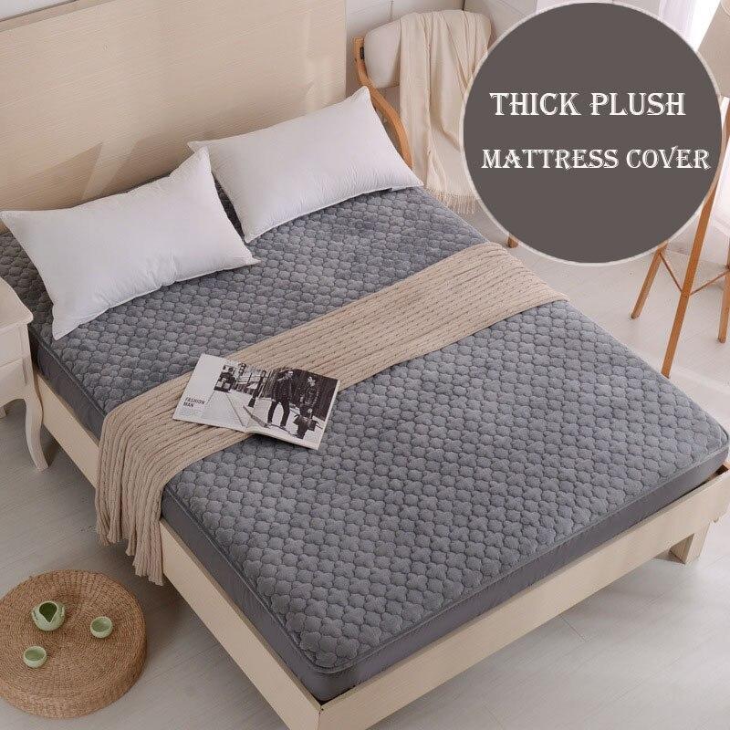 Solide Épais En Peluche alèse double lit séparé couvre pour matelas chaud air-perméable protège matelas drap de lit pad