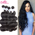 7A peruvian body wave virgin hair unprocessed body wave human hair extension 4 bundles body wave peruvian virgin hair mix length