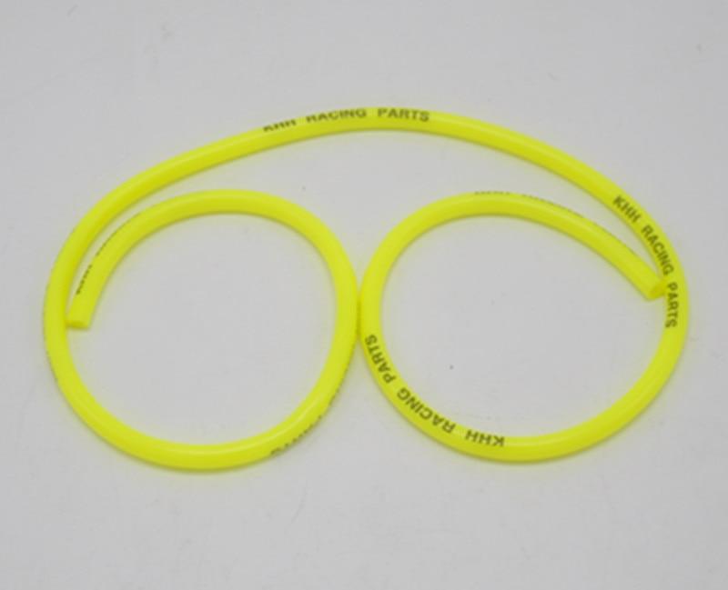 Yellow 1 Meter 5mm Inline Fuel Hose Line Tube For Pit Dirt Motor Bike ATV Quad 4 Wheeler Go Kart Buggy Motorcycle Motocross
