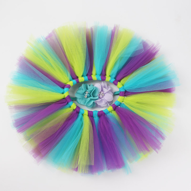 9f73ea22329b4 Newborn Photography Props Infant Pettiskirt Costume Outfits Princess  Rainbow Tutu Skirt + Headband Baby Photography Accessories-in Hats & Caps  from ...