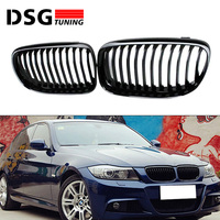 E90 E91 M3 style grill ABS front bumper grille for BMW 3 series 2008 2011 4 door sedan 5 door wagon