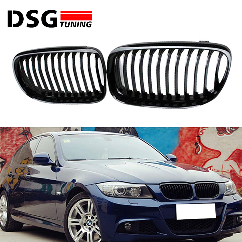 E90 E91 M3 style grill ABS front bumper grille for BMW 3 series 2008 - 2011 4-door sedan 5-door wagon grey frp car grills front bumper grill grille for mazda 6 sedan 4 door only 2009 2013 gs gt i s