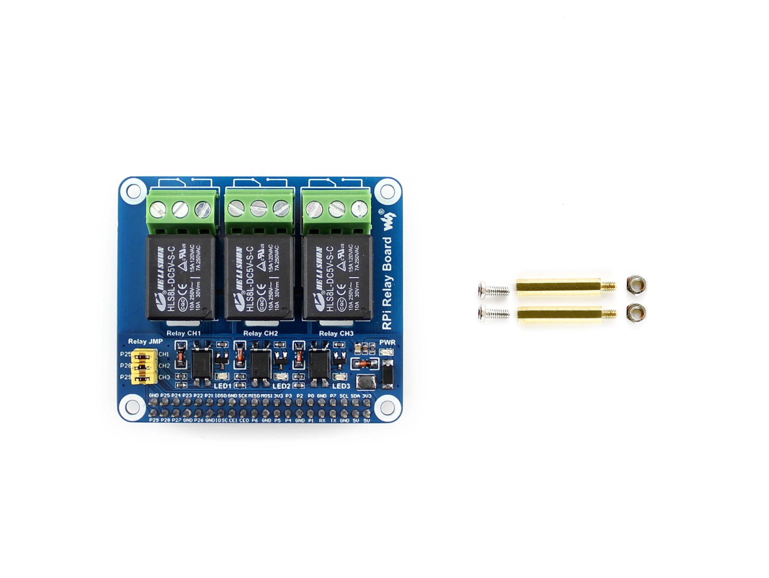 Waveshare плата реле мощности Raspberry Pi Плата расширения, для Raspberry Pi A +/B +/2B/3B/3B + для домашней автоматизации Интеллектуальная-in Доски для показов from Компьютер и офис