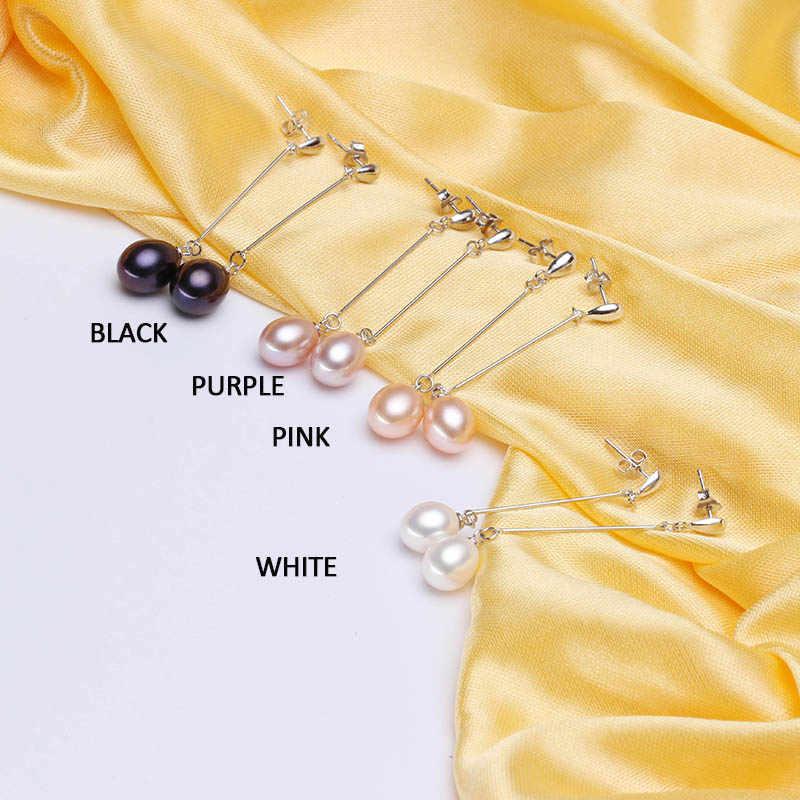 HENGSHENG Top Quality earrings for women 100% real genuine grade AAAA water drop freshwater pearl earrings, fashion jewelry