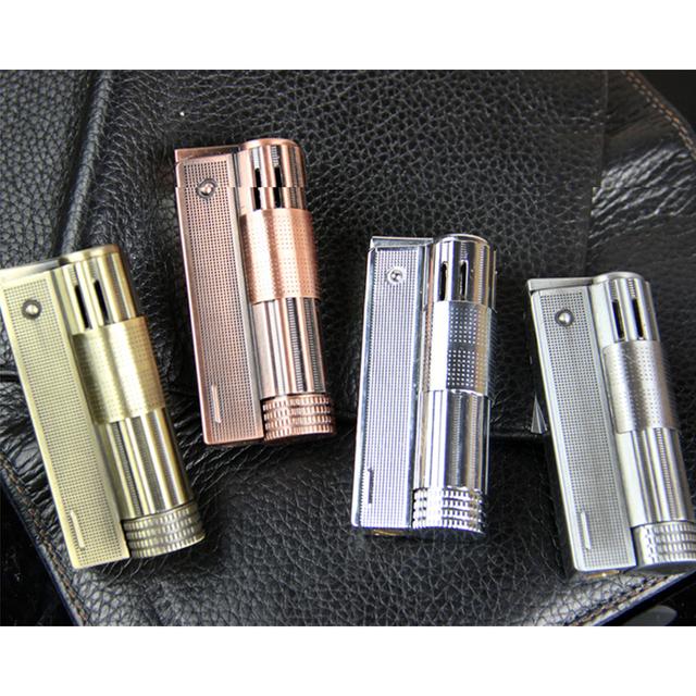 Lighter Vintage Old Petrol Refillable Oil Lighter Kerosene Fire Mini Portable Cigarette Metal lighters Accessories for Men Gift
