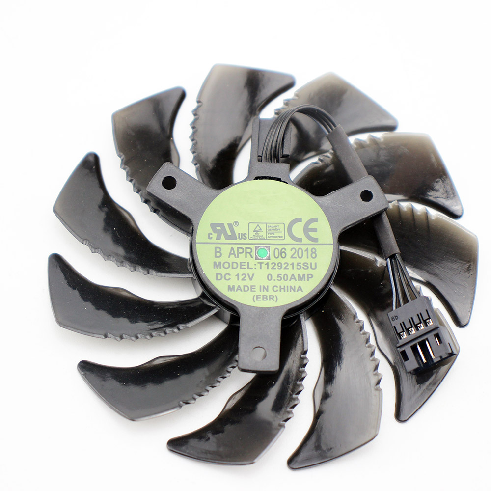 88MM T129215SU 4Pin Cooling <font><b>Fan</b></font> For Gigabyte <font><b>GTX</b></font> 1050 1060 1070 Ti <font><b>960</b></font> RX 470 480 570 580 Graphics Card Cooler <font><b>Fan</b></font> image