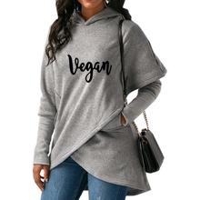 Beautiful VEGAN hooded pullover sweater