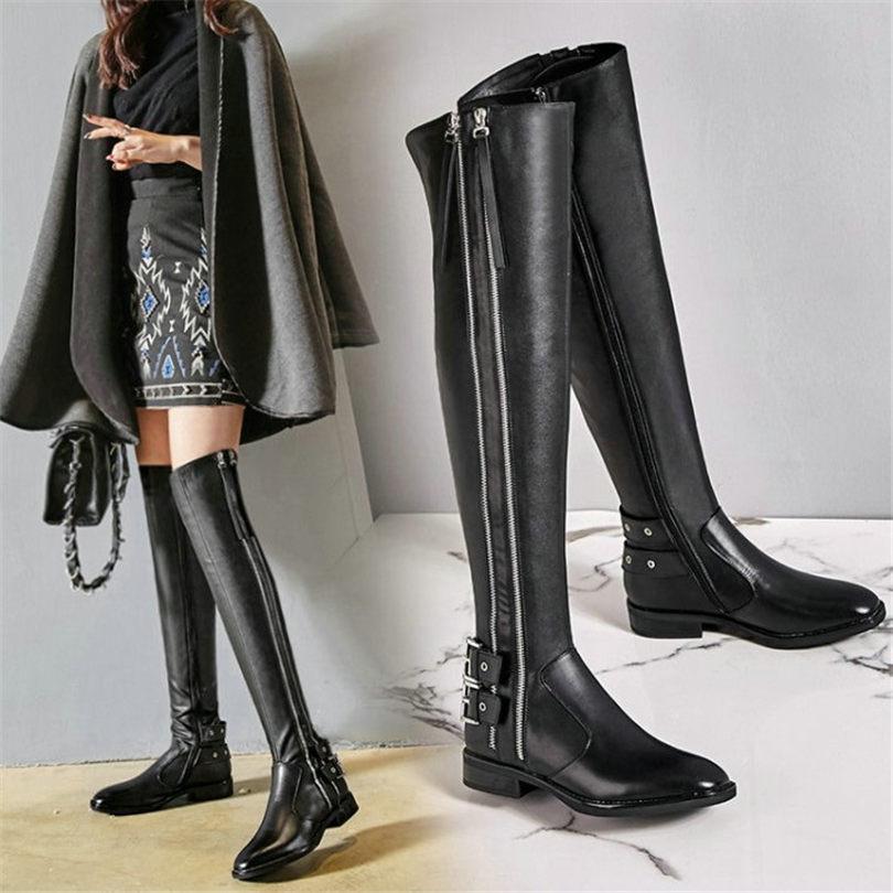 NAYIDUYUN New Thigh High Boots Women