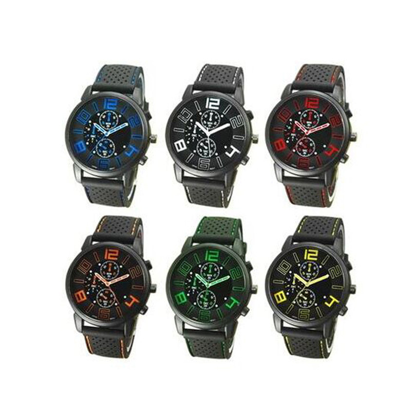 2018 Top Luxury Brand Men Military Sports Watches Men's Quartz Date Clock Man Leather Wrist Watch  Six  Colors  #4A23
