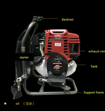 backpack engine 4 stroke Gasoline engine for brush cutter motor 35.8 cc 1.3HP power