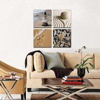 Romantic Beach Theme 4 Panels Modern Beach Ocean Canvas Prints Paintings On Canvas Wall Art For