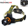 High power led headlamp 2000Lm CREE Q5 zoomable camping headlight dual light source torch by 2*18650 for fishing bike head lamp