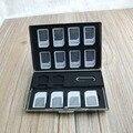 Alumínio 16 SIM Caso Do Cartão De Memória Para câmera câmera do telefone celular Anti-choque-resistente à Água de Armazenamento Titular