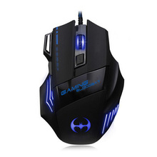 New Fashion 7D Professional Wired USB Mouse 7 Button 3200 DPI Cool Color Lamp Gamer Computer