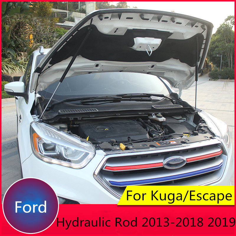 For Ford Kuga 2013 2015 2017 2018 2019 Refit Car Front Hood Engine Cover Hydraulic Rod Strut Spring Shock Bar Car Styling-in Styling Mouldings from Automobiles & Motorcycles