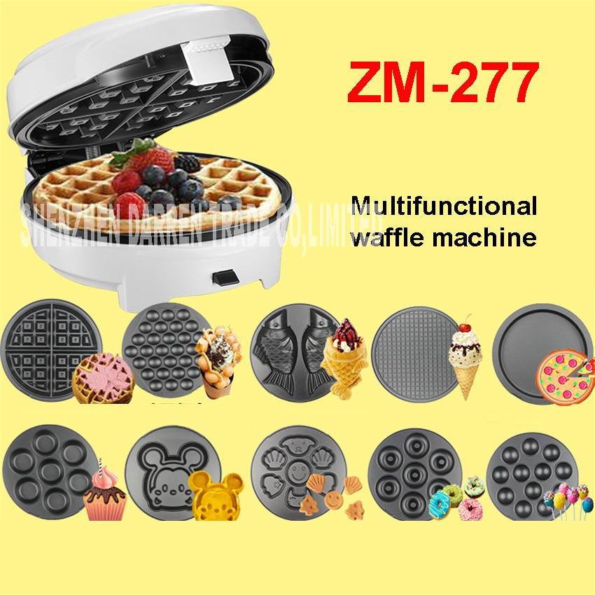 ZM-277 220V Casa 7 kitchen multifunction  Egg Waffle Maker/Donut Machine/Heart Waffle Maker/Cake Pop Machine non-floating type