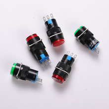 Light Self-Reset Round Button Switch About Diameter 16mm Total Length 40mm High Quality Accessories