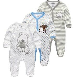 Image 1 - Kiddiezoom 2/3/4 adet/takım bebek erkek gömlek giyim setleri yenidoğan giyim erkek romper yaz roupa infantil kıyafet kostümleri