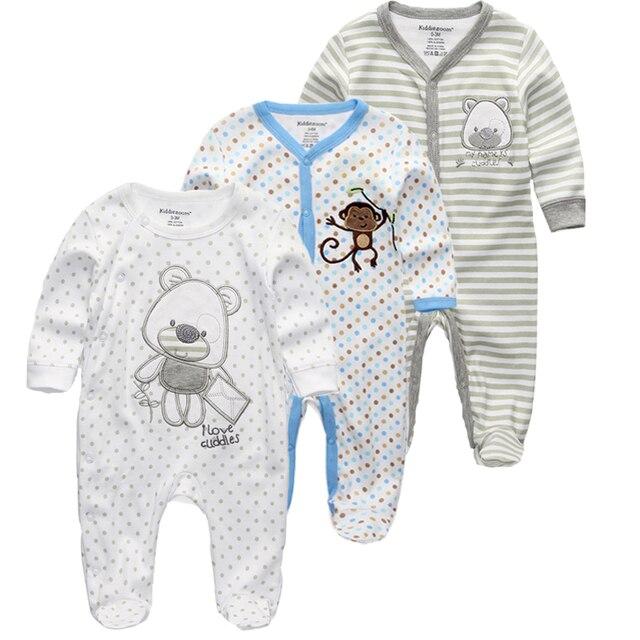 Kiddiezoom 2/3/4 adet/takım bebek erkek gömlek giyim setleri yenidoğan giyim erkek romper yaz roupa infantil kıyafet kostümleri