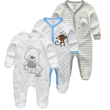 Kiddiezoom 2/3/4 יח\סט תינוק בני חולצות בגדי סטי יילוד בגדי בני romper קיץ roupa infantil תלבושת תחפושות