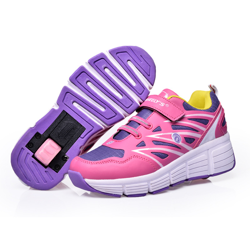Heelys 2018 Children Kids Fashion Sneakers Wheels Roller Skate Shoes Spring  Roller Skate Shoes Girl  boy Zapatos Con Ruedas nmd 81f733f8cf69