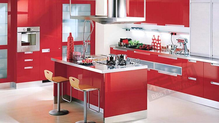 €11.01 20% de DESCUENTO|0,61 M * 5 M engrosamiento calidad pintura muebles  pvc papel pintado autoadhesivo armario de cocina armario impermeable para  ...
