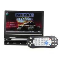 9 Inch Car Headrest Monitor Screen Built In Speaker Support USB SD DVD Player Games Remote