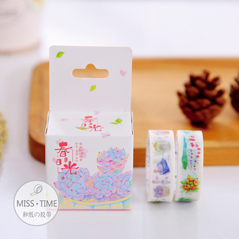 Aliexpress Com Whole Washi Tape Pretty Diy Masking Decorative Adhesive 2pcs Color Box Lc004 From Reliable Wholer Suppliers On