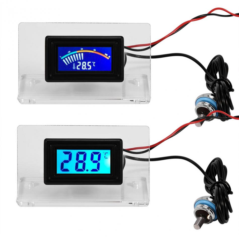 for Cooler LCD Screen Digital / Dial Thermometer Kit with Probe for Computer Water Cooling System