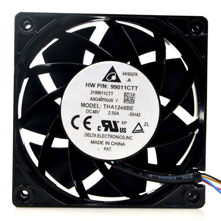New original THA1248BE 48V 2.50A 12038 12cm 48V ultra violence aluminum frame fan delta ffc1212de original 12cm 12038 120mm dc 2 4a ball bearing fan violence powerful case fan