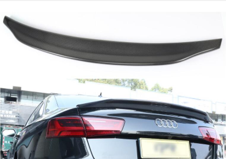 Carbon Fiber CRA REAR WING TRUNK LIP SPOILERS FOR AUDI A6 S6 RS6 C6 C7 2009 2010 2011 2012 2013 2014 2015 2016 2017 2018 image