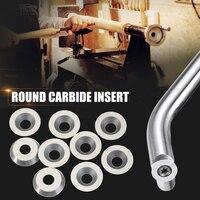 WOLIKE 10 stücke Runde Hartmetall Einsätze Cutter 16mm Durchmesser für Holz Drehen Tools Holz Werkzeug-in Drehwerkzeug aus Werkzeug bei