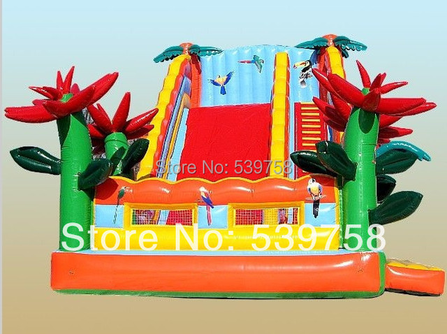 Guangdong fabricantes que venden toboganes inflables, castillos inflables, gorila inflable, YLY-0058